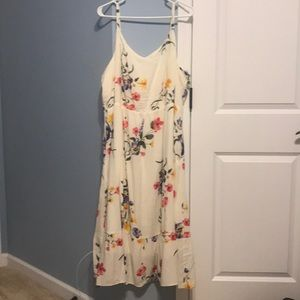 Old Navy spaghetti strap dress, hits mid-calf